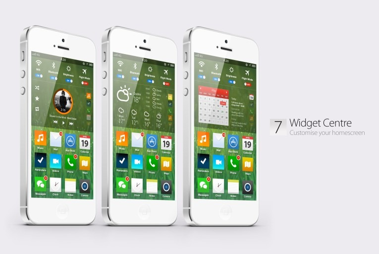 IOS 7 Concept Designs Welcome To The Future Of IPhone