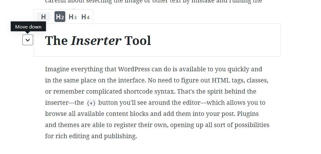 Gutenberg- text editor